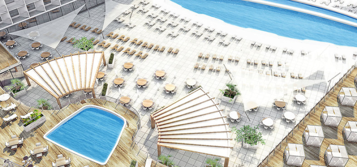 the ibiza twiins hotel pool