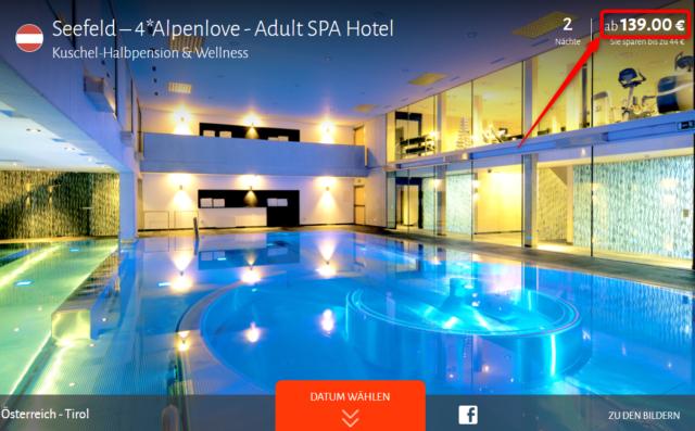 alpenlove kuschel halbpension adult spa hotel travador